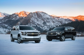 2015 Chevrolet Tahoe and Suburban fronts in Lake Tahoe