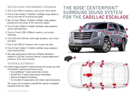 Cadillac Escalade Features Bose Centerpoint Surround Sound Syste