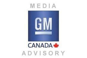 Media Advisory GM Canada Logo