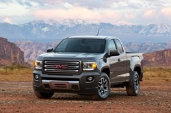 2015 GMC Canyon All Terrain SLE Extended Cab Short Bed Front Three Quarter in Cyber Grey