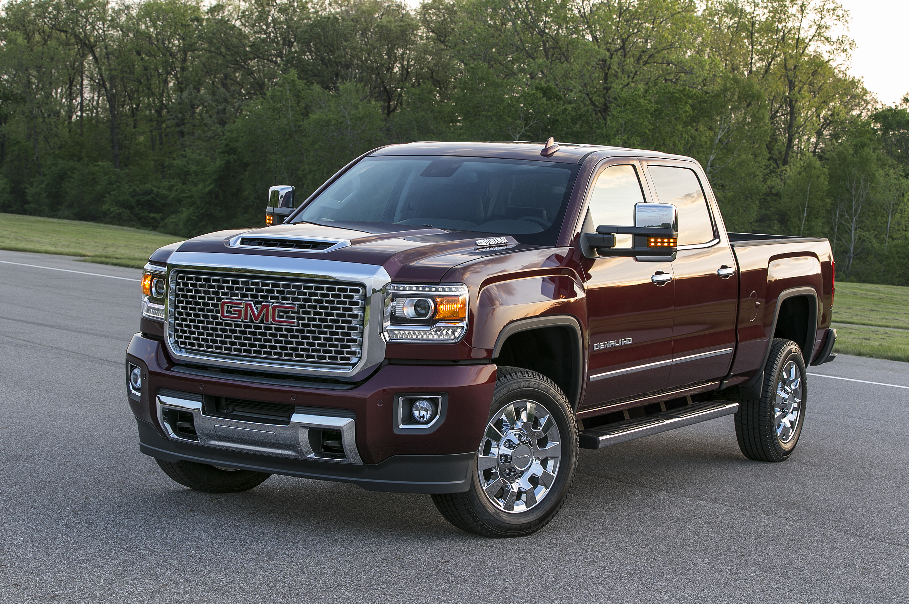 2017 Gmc Sierra Denali 2500hd Bold Hood Design Hints At What Lies All Terrain Beneath